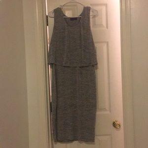 Grey n white dress